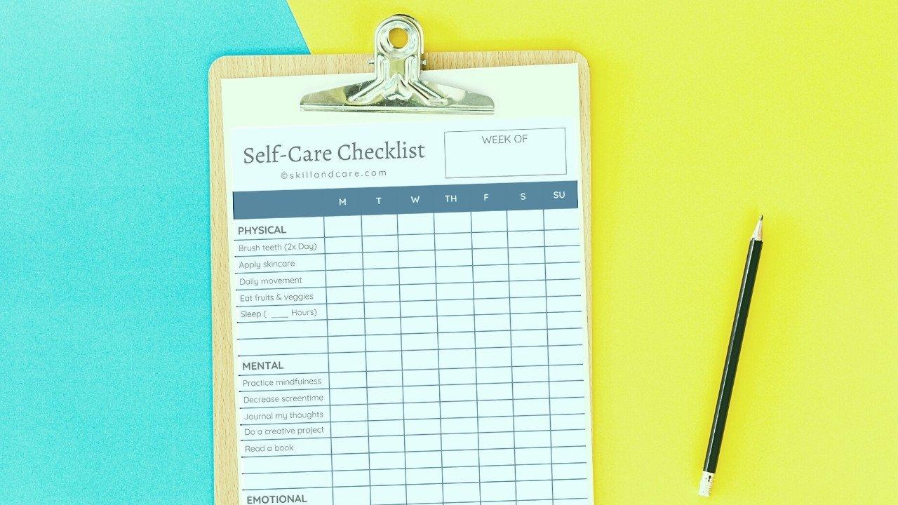 Self-Care Checklist For Personal Development