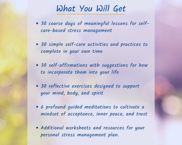 Managing Stress - Self-Care Online Course